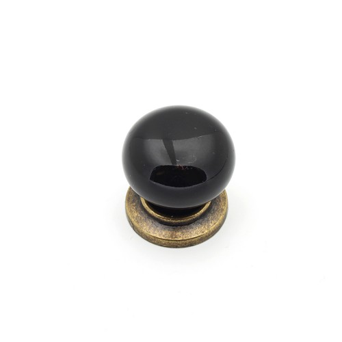 Siyah Antik Düğme Kulp